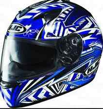 HJC IS-16 Specter Motorcycle Helmet & SUNVISOR NEW XL Blue Motorbike RRP $349