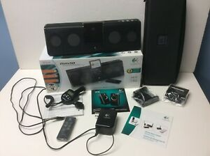 LOGITECH mm50 iPod Portable Speakers System - All Parts - Case - Box  - Manual