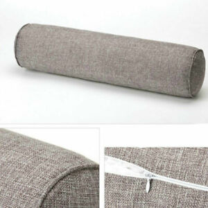 Home Bolster Zipper Closure Sofa Long Pillow Elastic Breathable Waist Pillow 1PC