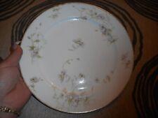 Vintage Dinner Plate CH Field Haviland Limoges GDA Purple Flowers