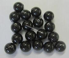 18 Swarovski Crystal Pearl Beads 6mm Bead Mystic Black Beading Jewellery SWK3505