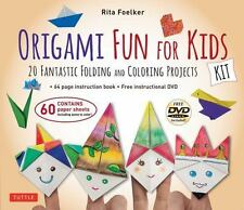 Origami Fun for Kids Kit: 20 Fantastic Folding and Coloring Projects paper, boo