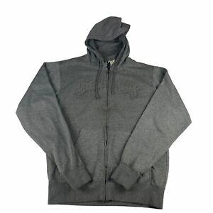 Billabong Mens Large Grey Fleece Full Zip Hoodie