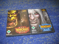 Warcraft 3 Reign of Chaos + Addon Frozen Throne expansión 2 DVDs alemán PC