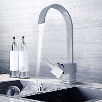 WELS Square Brass Swivel Kitchen Sink Mixer Tap Bath Spout Laundry Basin Faucet