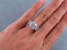 Verlobungsring 14K Weißgold Finish Braut Rundschnitt Diamant Soulmate Ring