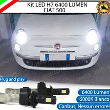 KIT FULL LED FIAT 500 CINQUECENTO LAMPADE LED H7 6000K BIANCO GHIACCIO NO ERROR