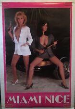 Miami Nice Original Vintage Poster 1986 Satire Television Pin-up Sexy Women Car