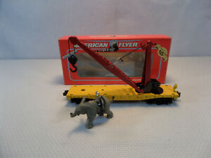 American Flyer compatable - Circus Elephant crane car by BLW - NEW