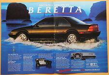 Magazine Print Ad 1988 Chevrolet Beretta