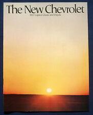 Prospekt brochure 1977 Chevrolet Chevy Caprice Classic * Impala (USA)