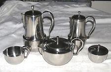 Georg Jensen Denmark 5-piece Tea & Coffee Set Stainless Steel