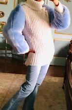 NWT Akira Blue Faux Fur Cape /Shawl Size L/XL