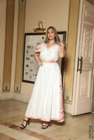 Beautiful Woman Embroidered Dress Traditional Middle East Palestine Jordan 38-44