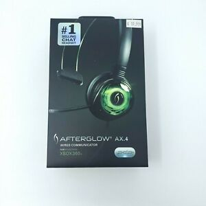 Afterglow AX.4 Wired Communicator- Green Xbox 360 Microphone Mic New in Box NIP
