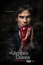 THE VAMPIRE DIARIES TVD Poster IAN SOMERHALDER CW Paul Wesley NINA DOBREV Rare!