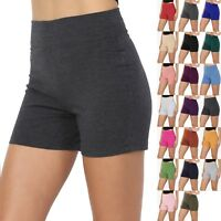 TheMogan Juniors Low to High Waist Workout Running Athletic Active Shorts