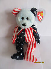 TY BEANIE BABY BEAR SPANGLE BLUE FACE - MINT - RETIRED