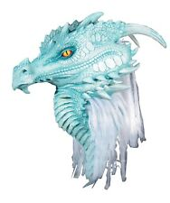 Halloween ARCTIC DRAGON PREMIERE Adult Latex Deluxe Mask Costume NEW