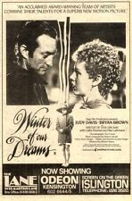13/2/82PGN22 JUDY DAVIS & BRYAN BROWN IN WINTER OF OUR DREAMS MOVIE ADVERT 7X5""