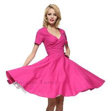 36207883bb00 Maggie Tang 50s Hepburn VTG Retro Pinup Rockabilly Full Swing Business Dress  574