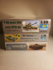 3 Trumpeter Model Kits 1/35 T-55 with BTU-55 M1 Panther II German SPW-70 NEW