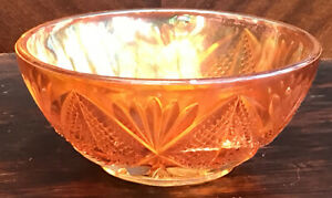 "Pressed Carnival Glass Sugar? Bowl 5"" X 2.25"""