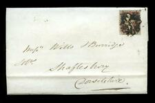 PENNY RED IMPERF 1843 COVER to SHAFTESBURY...NUMBER 11 in MALTESE CROSS cv £1100