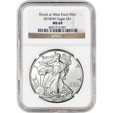 2018-(W) American Silver Eagle - NGC MS69