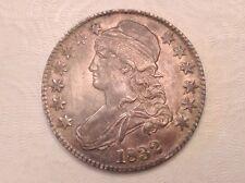 - 1832 Bust Half Dollar 50 Cents lustrous AU A/Uncirculated