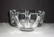 VINTAGE ORREFORS ART GLASS MODERNIST CORONA BOWL DESIGNED BY LARS HELLSTEN