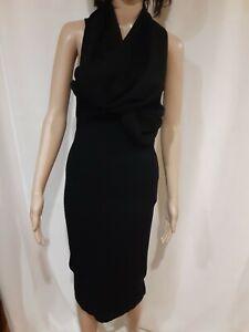 Donna Karan Black Label Cashmere Blend Sleeveless Wrap Dress Size S
