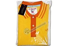 U.S. Polo Assn. Since 1890 Yellow w/Orange Collar Half.Sleeve T-Shirt XL Size