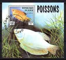 Poissons Bénin (30) bloc oblitéré