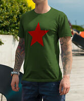 Communist Soviet CCCP Red star T shirt M-XXL USSR Green