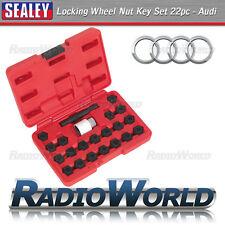 Sealey 22pc BLOQUEO DE ALEACIÓN Tuerca De La Rueda Clave Perno Socket Set Herramienta De Seguridad De Audi SX206