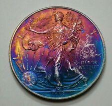 2008 American Silver Eagle Dollar 1 Oz Fine Silver Coin Round Toned, No Reserve.