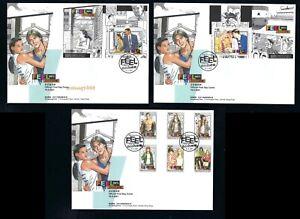 China Hong Kong 2021 FDC FEEL 100% Stamp set