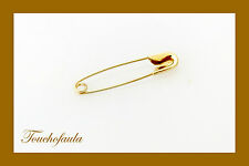 14K YELLOW GOLD SAFETY PIN SAFE AND SECURE NO SHARP OPEN END.