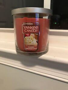 Yankee Candle SUGARED CINNAMON APPLE 7 oz TUMBLERS HTF SCENTS