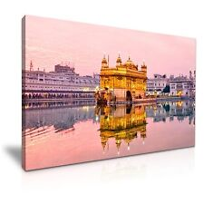Golden Temple In Amritsar Punjab India Canvas Wall Art 76x50cm / 30x20inch