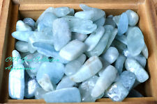 Tumbled Gemstone Crystal Aquamarine 5g Rare Collectable Medium