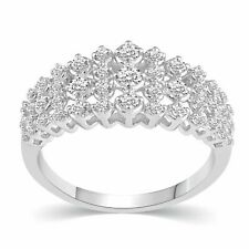 1/2CT TW Diamond Anniversary Ring in Sterling Silver