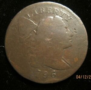 1796 Liberty Cap flowing hair large cent