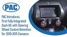 NEW CAMARO 1 OR DOUBLE 2 DIN CAR STEREO RADIO DASH INSTALLATION KIT W/ WIRING