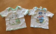 Vtg 80's Curity Newborn Shirts Lot Of 2