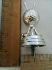 Small GolfSilver Plastic Trophy Topper With Two Clubs and Golf  Ball.