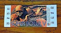 1971 Super Bowl Ticket V Baltimore Colts Vs. Dallas Cowboys Reprint