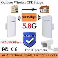 5.8G 300 Mbit/s Outdoor Bridge CPE AP Router WLAN WiFi Access Point Verstärker