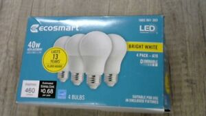 40-Watt Equivalent A19 Dimmable Energy Star LED Light Bulb Bright White (4-Pack)